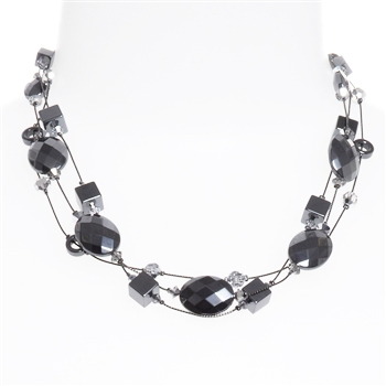 Ronnie Mae Necklace - Hematite