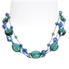 Ronnie Mae Necklace - Teal / Blue