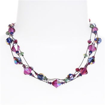 Ronnie Mae Necklace - Jewel Tone Multi