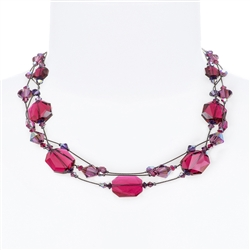 Ronnie Mae Necklace - Jewel Tone