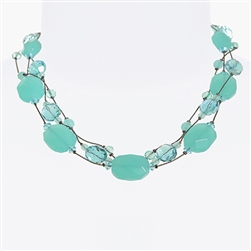 Ronnie Mae Necklace - Pacific Opal
