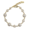 Ronnie Pearl Bracelet - Cream