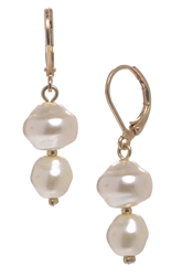 Ronnie Pearl Drop Earring - Cream