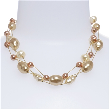 Ronnie Pearl Necklace - Multi