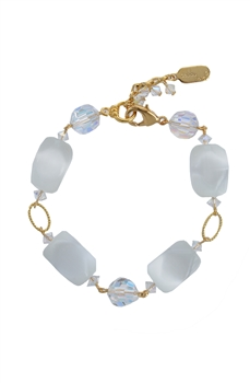 Ronnie Ring Bracelet - White