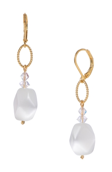 Ronnie Ring Earring - White