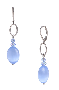 Ronnie Ring Earring - Light Sapphire