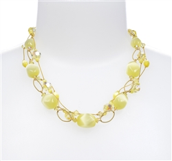 Ronnie Ring Necklace - Yellow