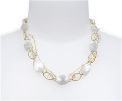 Ronnie Ring Necklace -White
