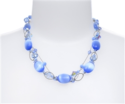 Ronnie Ring Necklace - Light Sapphire