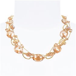 Ronnie Ring Necklace - Golden Shimmer
