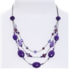 Ronnie Tier Necklace - Purple