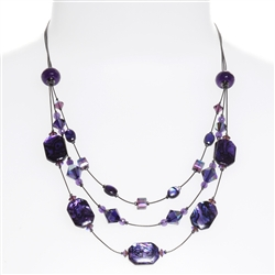 Ronnie Tier Necklace - Purple Abalone