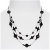 Ronnie Tier Necklace - Jet Black