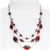 Ronnie Tier Necklace - Red Abalone