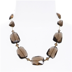 Taylor Necklace - Smoky Topaz