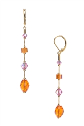 Willow Earrings - Orange / Pink