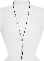 Willow Necklace - Jet Black