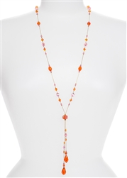 Willow Necklace - Orange / Pink