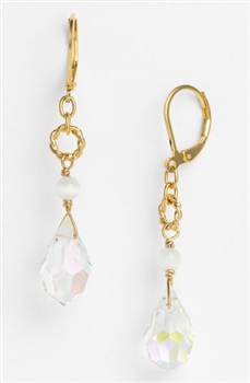Zoie Drop Earring - Clear Swarovski Crystal
